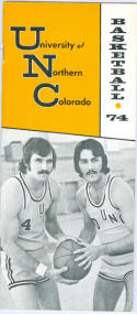 1973 Northern Colorado Basketball Media Guide bkbx6.1528