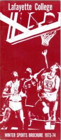 1973 Lafayette College Basketball Media Guide bkbx6.1496