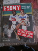 Larry Doby & Bob Feller Cleveland Indians  SIGNED  May 1949 Ebony