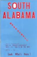 1973 South Alabama Basketball Media Guide bkbx6.1548