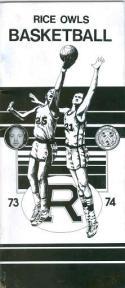 1973 Rice Basketball Media Guide bkbx6.1540