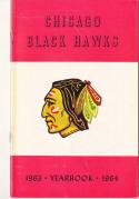 1963 - 1964 Chicago Black hawks Fact Book  press Media guide