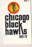 1969 - 1970 Chicago Black hawks Fact Book  press Media guide