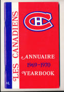 1969 Montreal Canadians nm  NHL Media press Guide