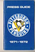 1971 Ptsburgh Penguins  NHL Media press Guide