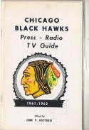 1961 Chicago Black Hawks NHL Media press Guide em