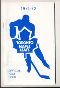 1971 Toronto Maple Leafs NHL Media press Guide