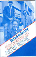 1973 DePaul Basketball Media Guide bkbx6.1466