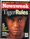 2001 6/18 Newsweek magazine newsstand Tiger Woods golf  bx rwa4