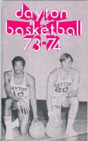 1973 Dayton University Basketball Media Press Guide bkbx9