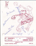 1/15 1955 signed  St. Joseph's Basketball Program 8 signatures
