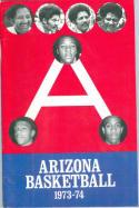 1973 Arizona Basketball Media Guide bkbx6.1435