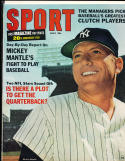 1966 July Sport Magazine Mickey Mantle New York Yankees
