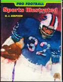 1974 9/16 Sports Illustrated No Label OJ simpson Buffalo Bills