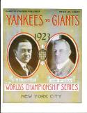 1923 World Series Program New York Yankees vs New York Giants  NM reprint
