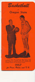 Oregon State 1956 - 1957 Dave Gambee Basketball press Media guide  bxpac10