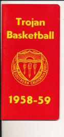 USC 1958 - 1959 Basketball press Media guide  bxpac10