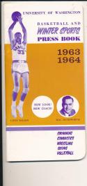 Washington University 1963-1964 Basketball press Media guide  bxpac10