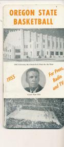 Oregon State 1954 - 1955 Slate Gill Basketball press Media guide  bxpac10