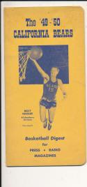 California 1949 - 1950  Billy Hagler Basketball press Media guide  bxpac10