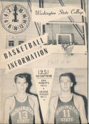 Washington State 1951 - 1952 College Basketball press Media guide  bxpac10