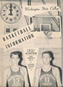 Washington State 1951 - 1952 College Basketball press Media guide  bxpac10