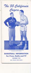 California 1954 - 1955 Basketball press Media guide  bxpac10