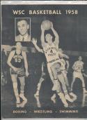 Washington State 1958 - 1959 Basketball press Media guide bxpac10