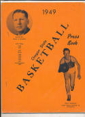 Oregon State 1948 - 1949 Basketball press Media guide