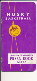 Washington University 1956 - 1957 Basketball press Media guide  bxpac10
