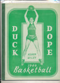 Oregon  1948 - 1949 Basketball press Media guide