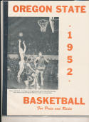 Oregon State 1951 - 1952  Basketball press Media guide bxpac10