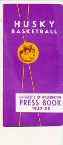 Washington 1957 - 1958 Unviersity Basketball press Media guide  bxpac10