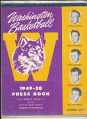 Washington 1949 - 1950 Basketball press Media guide  bxpac10