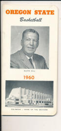 Oregon State 1959 - 1960 Salts Gill Basketball press Media guide  bxpac10