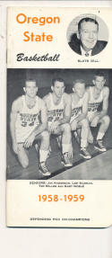 Oregon State 1958 - 1959 Slats Gill Basketball press Media guide  bxpac10