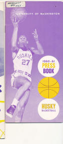 Washington University 1960 - 1961 Basketball press Media guide  bxpac10