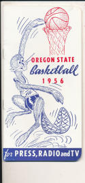 Oregon State 1955 - 1956 Basketball press Media guide  bxpac10