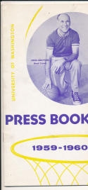 Washington University 1959 - 1960 Basketball press Media guide  bxpac10