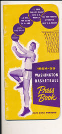 Washington University 1954 - 1955 Basketball press Media guide  bxpac10