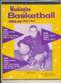 Washington  1953 - 1954 Basketball press Media guide  bxpac10