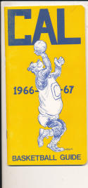 California 1966 - 1967 Basketball press Media guide  bxpac10