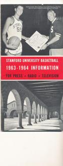 Stanford  1963 - 1964 Basketball press Media guide  bxpac10