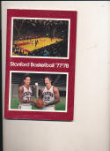 Stanford University 1977 - 1978 Basketball press Media guide bx pac10