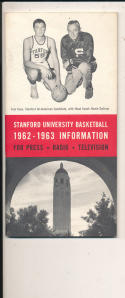 Stanford 1962 - 1963  Basketball press Media guide  bxpac10