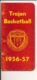 USC 1956 - 1957 Basketball press Media guide  bxpac10