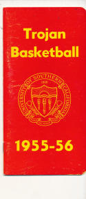 USC 1955 - 1956 Basketball press Media guide  bxpac10
