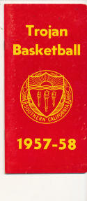 USC 1957 - 1958 Basketball press Media guide  bxpac10