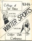 1963 College of San Mateo College Winter Sports Media Guide bkbx3.647