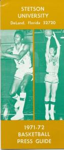1971 Stetson University College Basketball Media Guide bkbx3.606